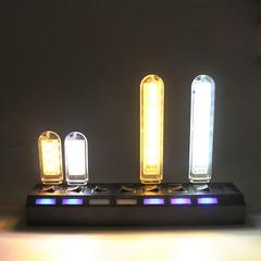 1Pcs 8 leds Protable USB LED lamp Book lights SMDs Reading Camping Bulb Night  light For PC Laptops