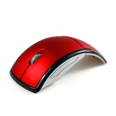 2.4G Wireless Mouse Portable Computer Optical Mouse Foldable Mouse Mini Fold Mice for Laptop Desktop Red One size