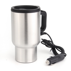 12V 450ml car hot water car travel mug portable thermostatic bottle