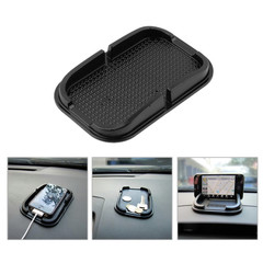 Car mat rubber phone sticky board dashboard mobile phone pad GPS MP3 car DVR mat black 15*10*2cm