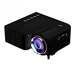UC28 + mini portable 1080P HD projector home theater upgrade interface Black (without accessories) 58*87*37mm