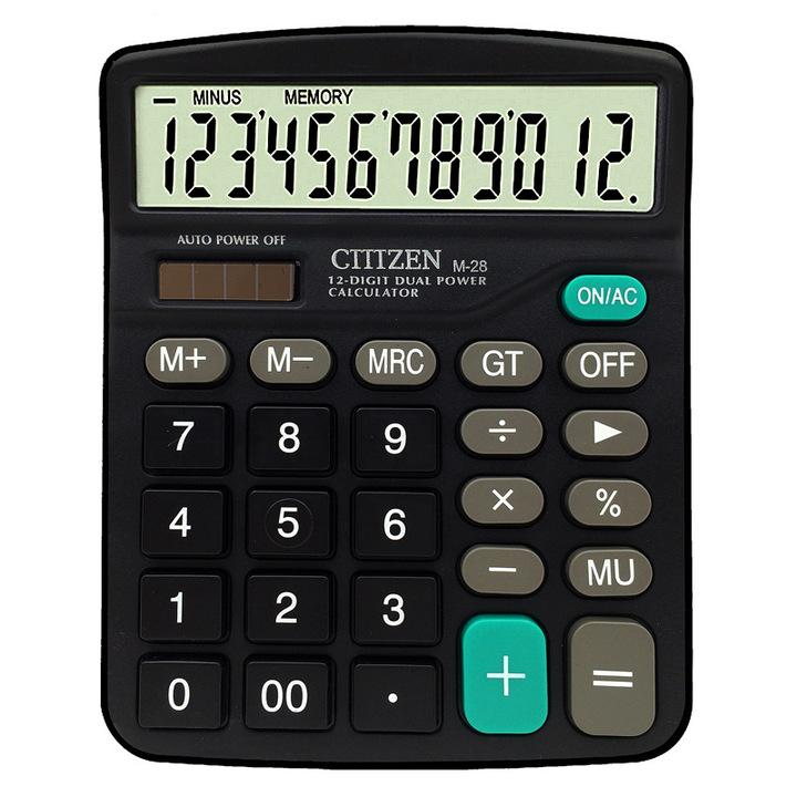 Genuine desktop dual power 12 digital display universal calculator daily office