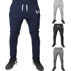 4 Colors Fitness Bodybuilding Man Sports Joggers Men's Pant Fashion Trousers Sweatpants Casual Pant Tibetan blue s