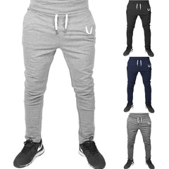 4 Colors Fitness Bodybuilding Man Sports Joggers Men's Pant Fashion Trousers Sweatpants Casual Pant Light gray xl