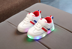 LED lighting baby girl boys shoes high quality cool running children's sports shoes red 22