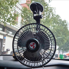 Powerful suction cup car electric fan6 inch12v24v truck car small fan shaking head speed control fan 12v 6 inches
