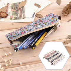 Mini Retro Flower Floral Lace Pencil Case Pencil Bag School Supplies Cosmetic Makeup Bag Zipper 2