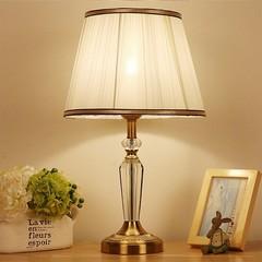 Bedside bedroom hotel stylish crystal table lamp