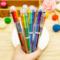 5PCS Multicolor Ballpoint Pen Multifunction 6 Colors Pen Creative Stationery School Chancery Office