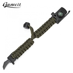 Gameit Outdoor Adjustable Multifunctional Paracord BLACK