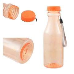 550mL Plastic Bottle For Water Unbreakable Frosted Leak-proof Plastic Kettle Portable Water Bottle 5 random color