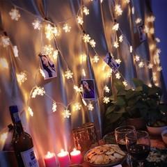 10 Led Christmas Tree Snowflake Led Character Christmas Party Family Wedding Christmas Decoration 1M Warm White