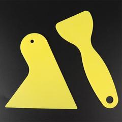 Car foil tool Yellow small scraper Car beauty shop scraper Car foil small scraper Car wash tool