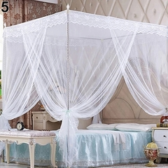 Flash sale Quadrate Mosquito Net Palace Net Lace Bed Netting with Three-Door Bed Net white 1.2*2m