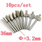 10pc Woodworking electric trimming machine Sharpening Engraving machine Pattern knife Milling cutter as shown 10/pcs