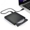 External DVD drive USB 2.0 DVD-ROM player CD / DVD-RW burner reader recorder black 138*138*18mm