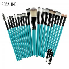 ROSALIND 20Pcs Professional Makeup Brushes Set Powder Foundation Eyeshadow Make Up Brushes Cosmetics Black and Green