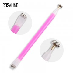 ROSALIND Dual-Ended Magnet Stick DIY Nail Polish Flower Pattern Magnet Pen For Cat Eyes Gel Polish pink