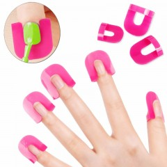ROSALIND 26 Pcs/lot Nail Polish Edge Anti-Flooding Plastic Template Clip Manicure Tools Set N5073