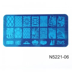 ROSALIND Flower DIY  Stamping Clear Silicone Nail Art Stamper Scraper with Cap Stamping Template N5221-06