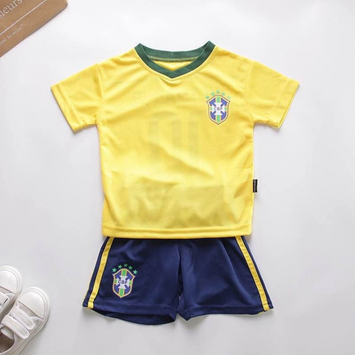 0ad732849 World Cup children kids boys football shirt.quick-drying material. brazil