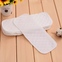 Washable Baby Cloth reusable Diaper Infant Nappy Soft 3 Layers 100% Cotton Diapers Breathable Kids White 46*17