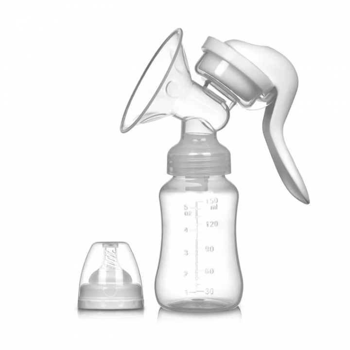 Manual Breast Pump Baby Nipple Suction 150ml Feeding Milk Bottles Breasts Pumps white Pictured white 150ml