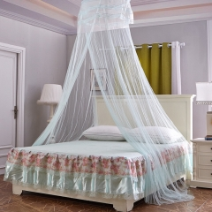 Tulle Bed Dome Bed Netting Canopy Circular  Round Dome Bedding Mosquito Net for Twin Queen King Bed fruit green one size