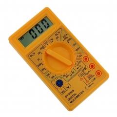 DT830B Digital LCD Voltmeter Ammeter Ohmmeter Multimeter Volt AC/DC Meter Tester YELLOW ONE SIZE