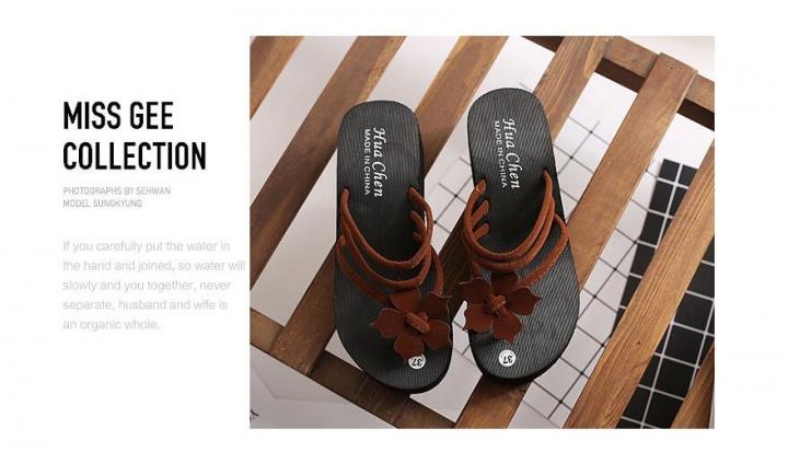 cdd8200fa0e5 2018 Women Flip Flops High Heel Slippers Platform Wedge Sandals Beach  Street Sandals