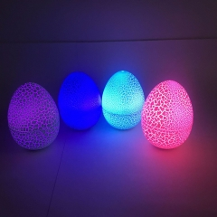 Colorful glitter cracks egg Christmas atmosphere light Christmas Eve decoration light purple 6**9CM
