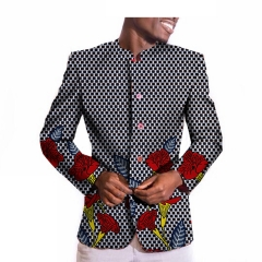 The new 2018 model of African national printing batik men's casual suit jacket 335 m
