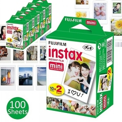 100 Sheets Fujifilm Instax Mini 8 film for Fuji Instax Mini 7s 8 9 70 25 50s 90 Instant Photo Camera 10 sheets Image Size: 2.13 inches x 3.4 inches