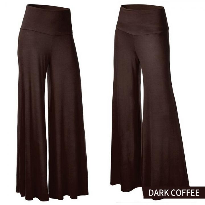 40499a85dfc07 Kilimall  1PC Women s Pants Wide Leg Pants Flared Trousers Legging ...