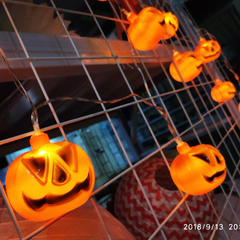 Battery Operated LED Fairy String Lights 3D Pumpkin 10 LED Lights Halloween Decoration Lights Pumpkin Pumpkin