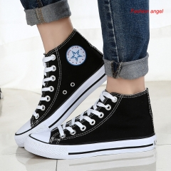 Summer new classic couple canvas shoes men and women shoes breathable student canvas shoes black 35