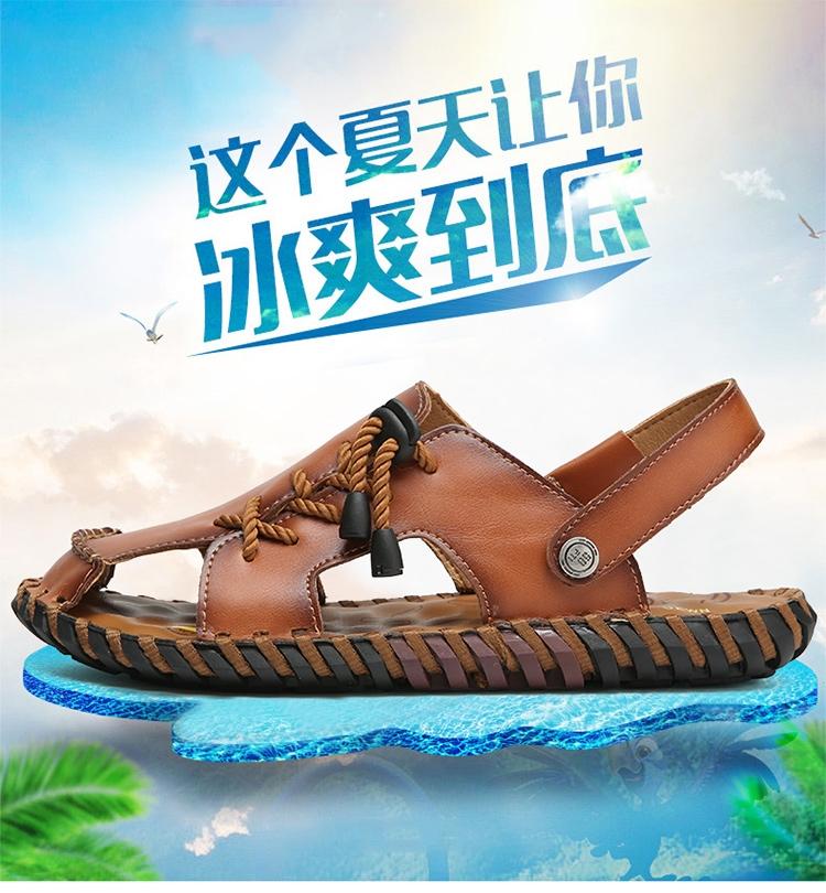 9d125fa26b9 2018 Men Sandals Handmade Soft Leather Sandals Men Comfortable ...