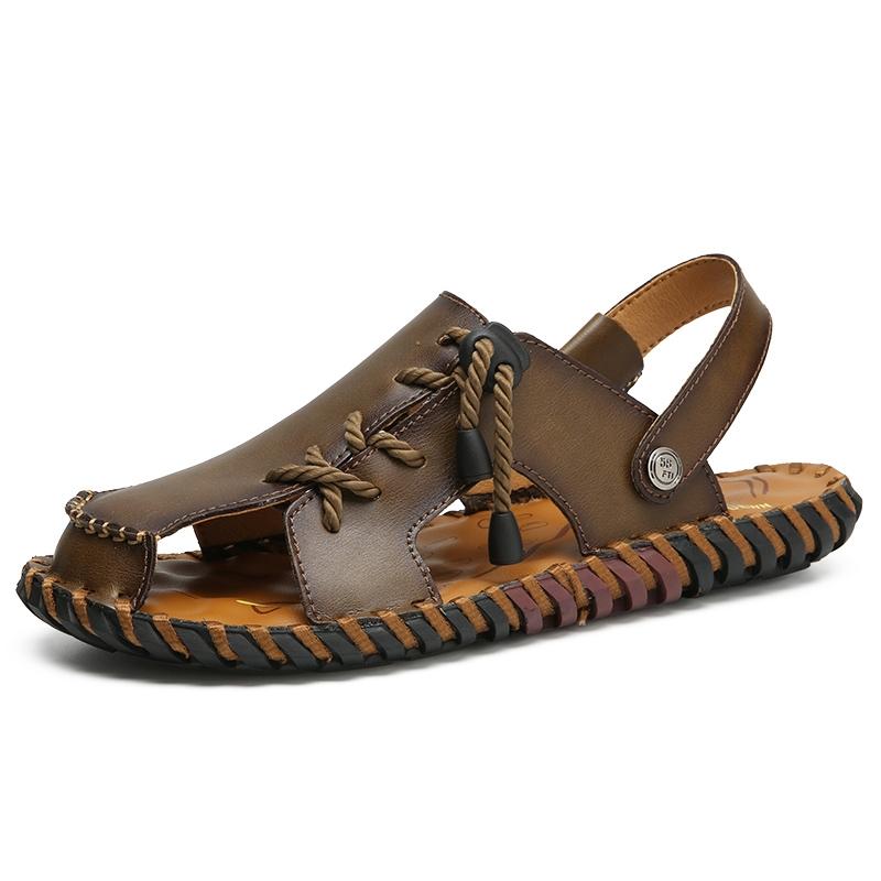 3cd6a38c2ae Item specifics  Brand  2018 Men Sandals Handmade Soft Leather Sandals Men  Comfortable Summer Shoes