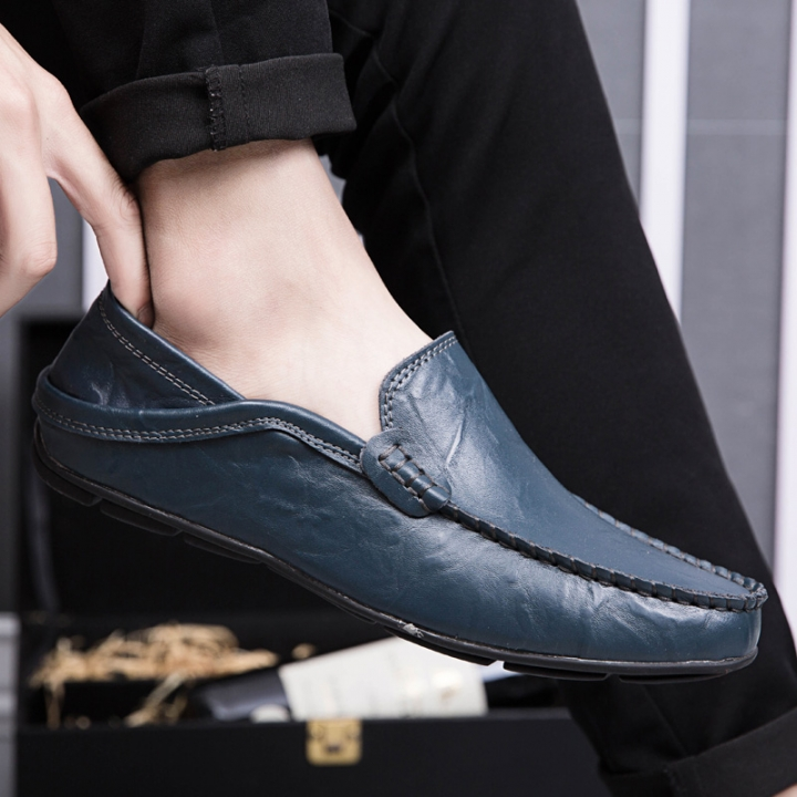 Back To Search Resultsshoes Summer Men Lazy Shoes Black Dark Blue Men Casual Pu Leather Loafers Comfortable Driver Shoes Mens Designer Hollow Outs Shoes Refreshment