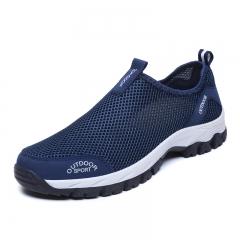 Men shoes outdoor hiking Shoes sports climbing shoes slip on trekking shoes blue 39