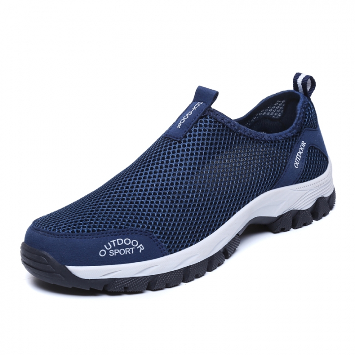 Men shoes outdoor hiking Shoes sports climbing shoes slip on trekking shoes blue 39