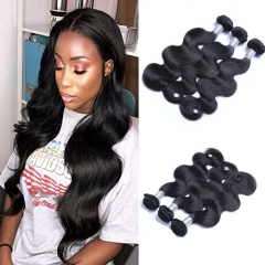 3 Bundles 8A Brazilian Body Wave  Human Hair Double Wefts 100g/bundle Natural Black Color natural black 1b# 12inch