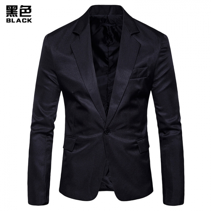 Men Pure Color Leisure Suit Tide S Clothes For Business Office Groom Groomsman Dress Black Xl