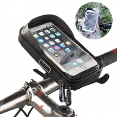 Motorcycle Bike phone mount Holder for bigest size outdoor waterproof support Pouch for phone Black One size