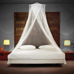 Coorful LUXURY Mosquito Net  Big enough for all Size Beds by Quick and Easy Installation System White 60*250*1200cm