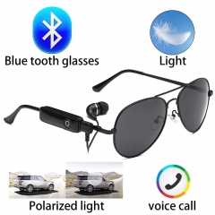 Bluetooth wireless invisible headset glasses sunglasses Round Anti ultraviolet sunglasses black 143*48*132mm