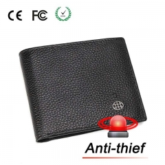 Anti-theft Safety Wallet, Genuine Leather, Smart Alarm Wallet Automatic phone alarm black 4.5