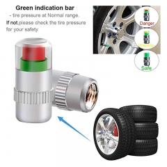 4pcs Air alert Car Tire Valve Cup, 36 PSI 2.4 Bar Pressure Monitoring Indicator 3 Color Eye Alert