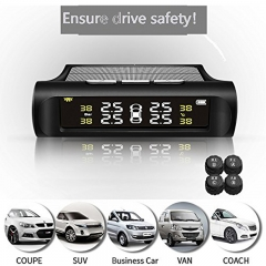 Wireless Tire Pressure Monitoring System With the car starts automatically LCD Displayand