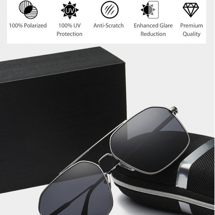 961ba5e72c8 Polarized Aviator Sunglasses - Force Durable Mirrored Lens For Mens Womens  Black frame black lens one